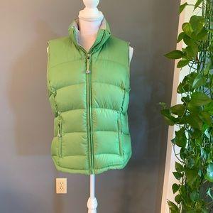 L.L Bean Green Puffer Down Feather Vest~Medium